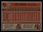 1981 Topps Traded #837 T Joe Strain  Back Thumbnail