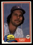 1981 Topps Traded #792 T Randy Lerch  Front Thumbnail