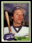 1981 Topps Traded #762 T Carlton Fisk  Front Thumbnail