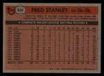 1981 Topps Traded #834 T Fred Stanley  Back Thumbnail