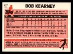 1983 Topps Traded #52 T Bob Kearney  Back Thumbnail