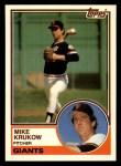 1983 Topps Traded #58 T Mike Krukow  Front Thumbnail