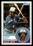 1983 Topps Traded #82 T Jorge Orta  Front Thumbnail