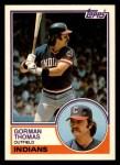 1983 Topps Traded #111 T Gorman Thomas  Front Thumbnail