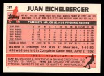 1983 Topps Traded #29 T Juan Eichelberger  Back Thumbnail