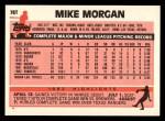 1983 Topps Traded #78 T Mike Morgan  Back Thumbnail