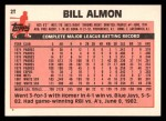 1983 Topps Traded #2 T Bill Almon  Back Thumbnail