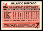 1983 Topps Traded #71 T Orlando Mercado  Back Thumbnail