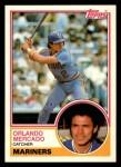 1983 Topps Traded #71 T Orlando Mercado  Front Thumbnail