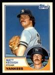 1983 Topps Traded #54 T Matt Keough  Front Thumbnail