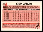 1983 Topps Traded #36 T Kiko Garcia  Back Thumbnail