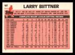 1983 Topps Traded #10 T Larry Bittner  Back Thumbnail