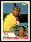 1983 Topps Traded #24 T Mike Davis  Front Thumbnail