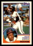 1983 Topps Traded #34 T Julio Franco  Front Thumbnail
