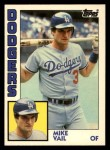 1984 Topps Traded #124  Mike Vail  Front Thumbnail