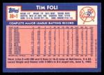 1984 Topps Traded #38  Tim Foli  Back Thumbnail