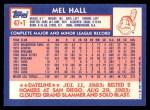 1984 Topps Traded #47  Mel Hall  Back Thumbnail