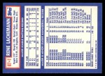 1984 Topps Traded #67  Rene Lachemann  Back Thumbnail