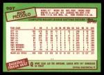 1985 Topps Traded #90 T Rob Picciolo  Back Thumbnail