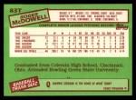 1985 Topps Traded #83 T Roger McDowell  Back Thumbnail