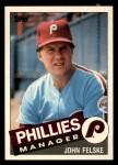 1985 Topps Traded #33 T John Felske  Front Thumbnail