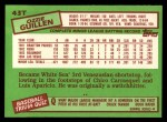 1985 Topps Traded #43 T Ozzie Guillen  Back Thumbnail
