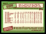 1985 Topps Traded #105 T Donnie Scott  Back Thumbnail