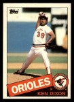 1985 Topps Traded #31 T Ken Dixon  Front Thumbnail
