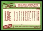1985 Topps Traded #39 T Bob Gibson  Back Thumbnail