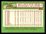 1985 Topps Traded #111 T Chris Speier  Back Thumbnail