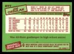 1985 Topps Traded #89 T Joe Orsulak  Back Thumbnail