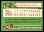 1985 Topps Traded #32 T Mariano Duncan  Back Thumbnail