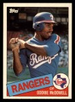 1985 Topps Traded #82 T Oddibe McDowell  Front Thumbnail
