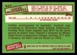 1985 Topps Traded #82 T Oddibe McDowell  Back Thumbnail