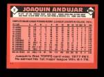 1986 Topps Traded #3 T Joaquin Andujar  Back Thumbnail