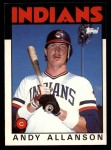 1986 Topps Traded #1 T Andy Allanson  Front Thumbnail
