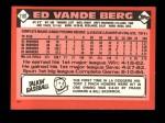 1986 Topps Traded #118 T Ed VandeBerg  Back Thumbnail