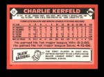 1986 Topps Traded #52 T Charlie Kerfeld  Back Thumbnail