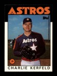 1986 Topps Traded #52 T Charlie Kerfeld  Front Thumbnail