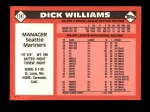 1986 Topps Traded #124 T Dick Williams  Back Thumbnail