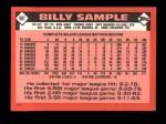 1986 Topps Traded #98 T Billy Sample  Back Thumbnail