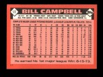 1986 Topps Traded #17 T Bill Campbell  Back Thumbnail