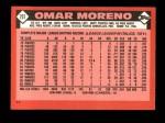 1986 Topps Traded #75 T Omar Moreno  Back Thumbnail