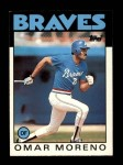 1986 Topps Traded #75 T Omar Moreno  Front Thumbnail