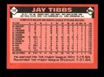 1986 Topps Traded #114 T Jay Tibbs  Back Thumbnail