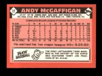 1986 Topps Traded #72 T Andy McGaffigan  Back Thumbnail