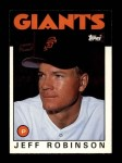 1986 Topps Traded #93 T Jeff D. Robinson  Front Thumbnail