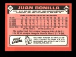 1986 Topps Traded #13 T Juan Bonilla  Back Thumbnail
