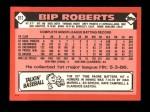 1986 Topps Traded #91 T Bip Roberts  Back Thumbnail
