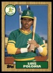 1987 Topps Traded #96 T Luis Polonia  Front Thumbnail